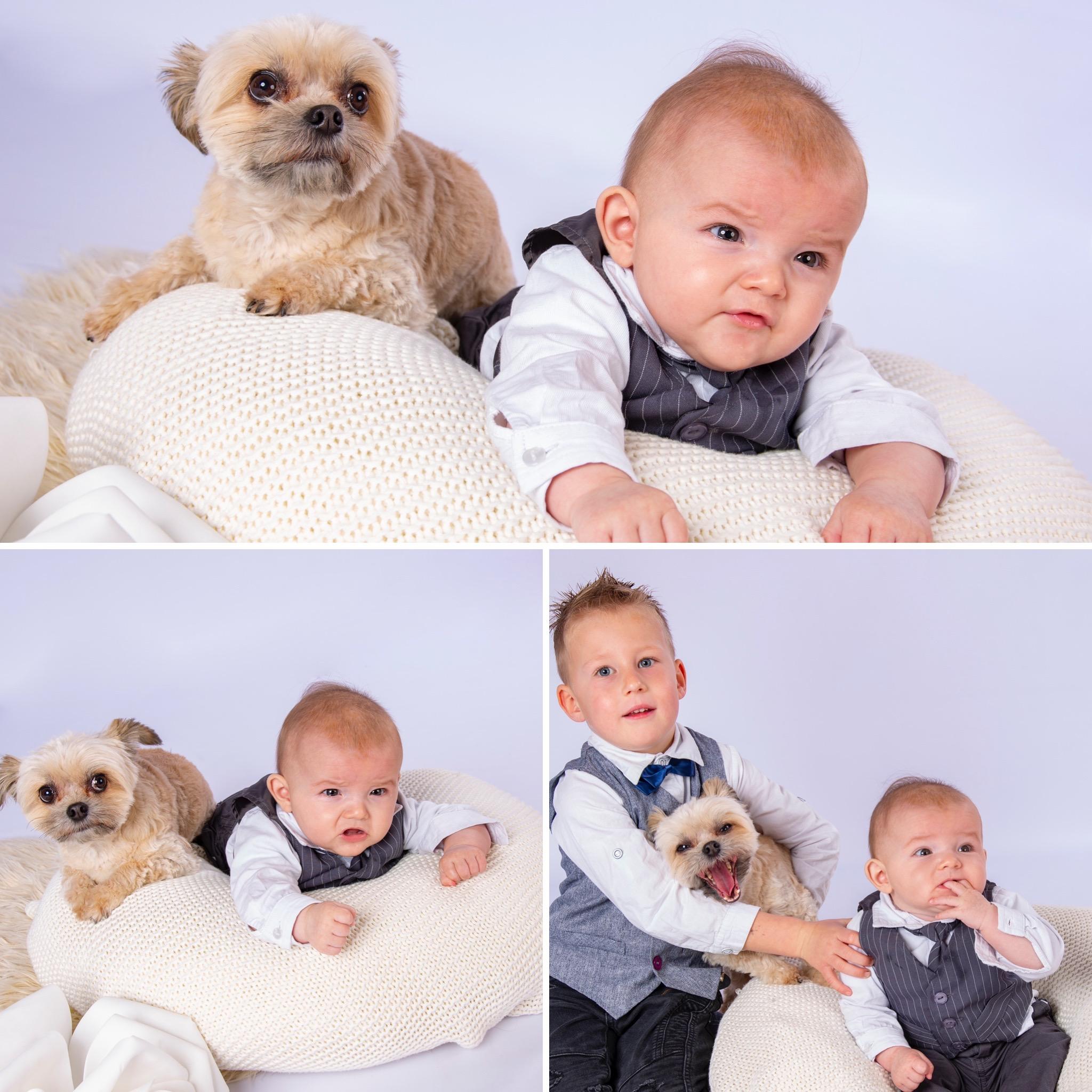 Geschwister Fotoshooting mit Hund 🐶